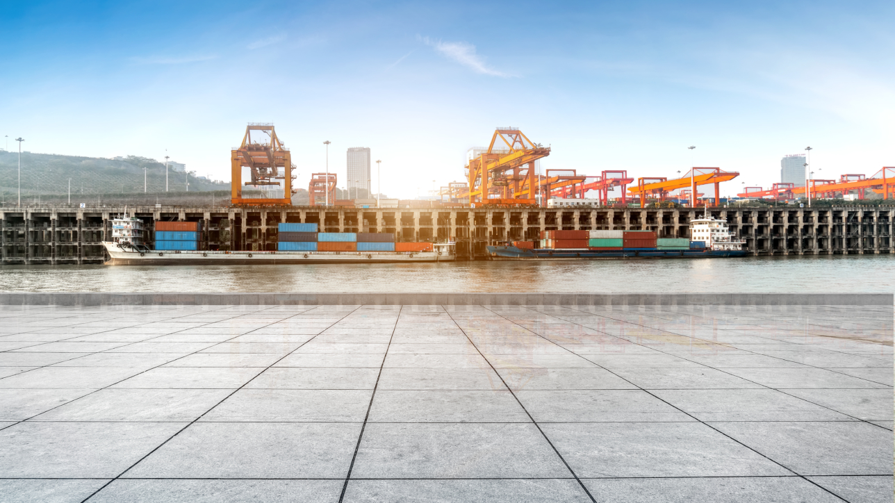 Empty floor and container terminal