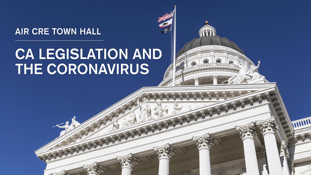 Town Hall on CA Coronavirus Legislation and CRE